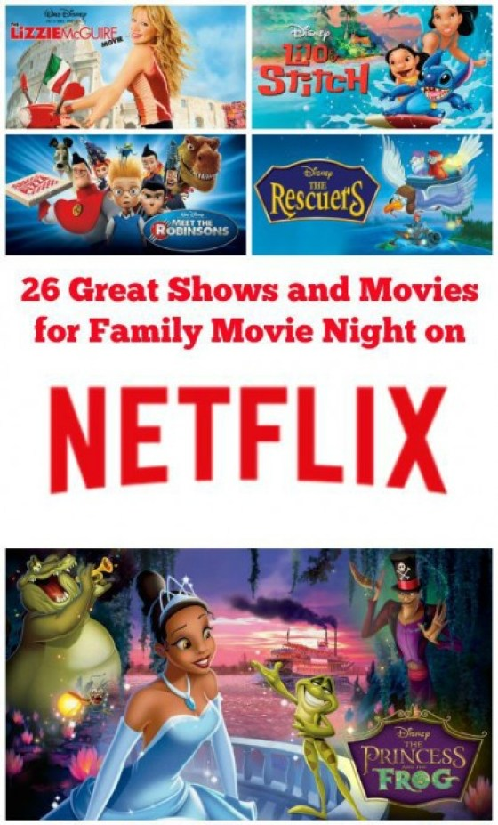 A list of 26 great shows and movies to enjoy for family movie night on Netflix.#streamteam via @fitcheerldr