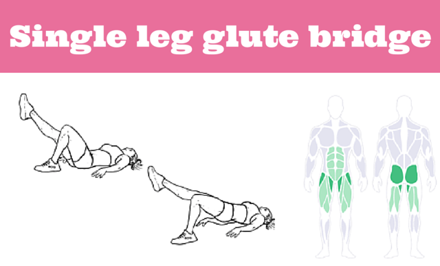 Single leg glute bridge - a great strength exercise for runners!
