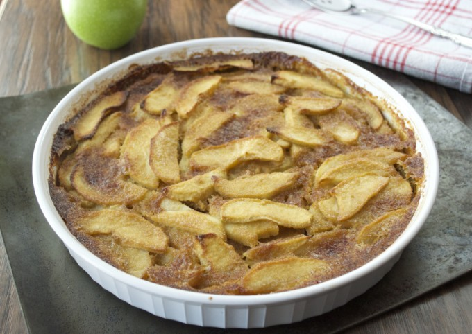 Rustic Apple Custard Cake