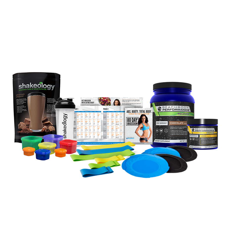 pack complémentaire 80 Day Obsession, Shakeology et Performance