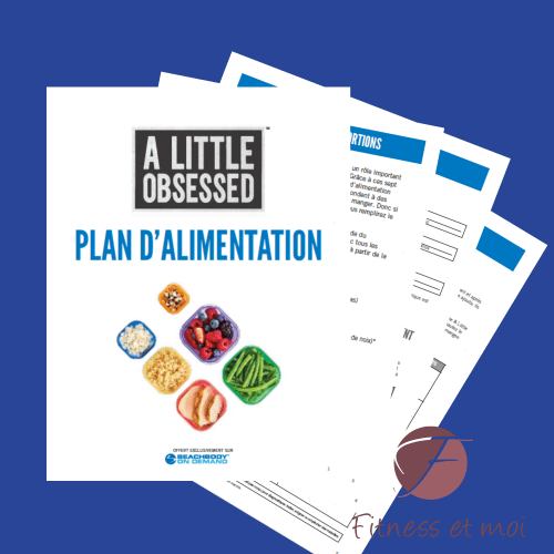 plan alimentaire A little obsessed
