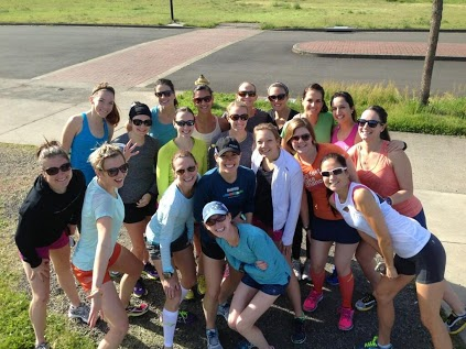 Pre Shakeout Run with Some Awesome Gals!