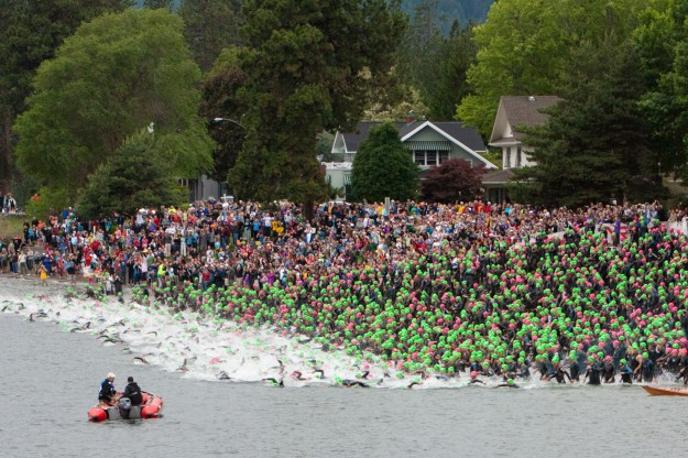 Ironman CdA Swim Start 2012