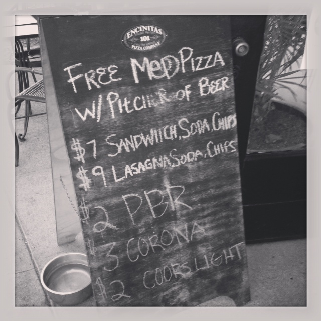 Our New Favorite Place - Free Medium Pizza with Purchase of (Very Large) Pitcher of Beer