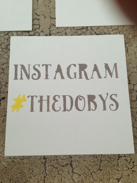 Craft 2 - One of the many painted signs I made