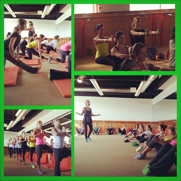 The TDM ladies hard at work learning new moves!  (photo credit - instructor Allison!)