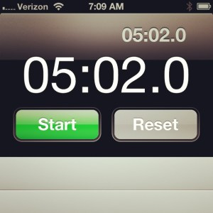 5 minute plank happiness!