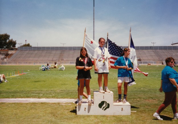 Not sure mental toughness got me to the podium at the Girls Scout Olympics or not...