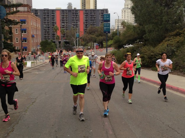 Dad and Denice at Mile 1!