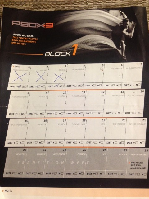 Our P90X3 Journey Begins!