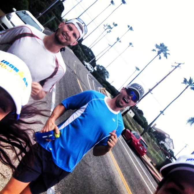 Attempting to get a selfie with 4 people while running is not recommended