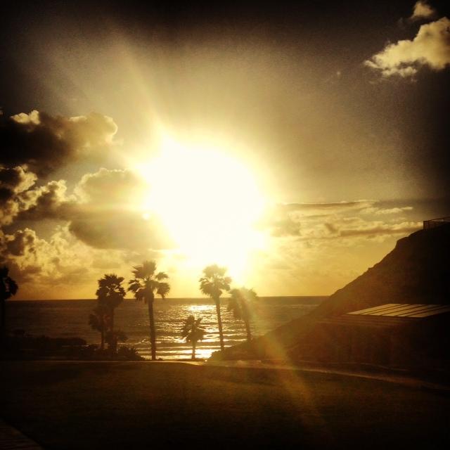 sunset on my tempo run