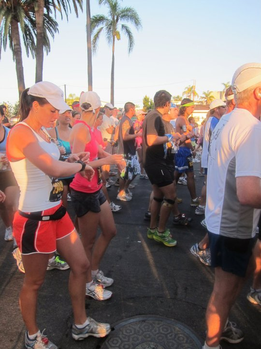 Starting my Garmin at the 2011 Rock n Roll Marathon (my first full!)