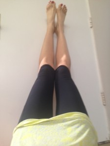 Legs up the wall after the long run