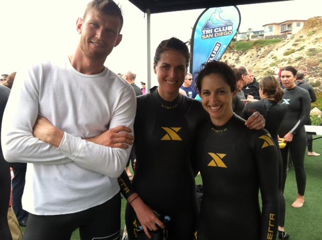 Jeremy, Me & Asia at the Dave Martin Memorial Swim in 2012