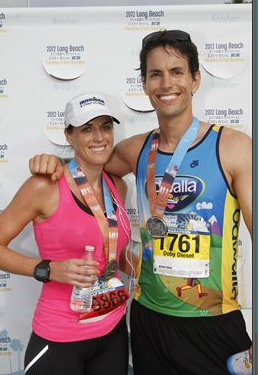 Mike and Me After The Long Beach Half Marathon in 2011
