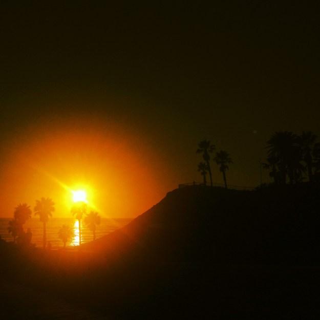 Hot Sun Setting in San Diego