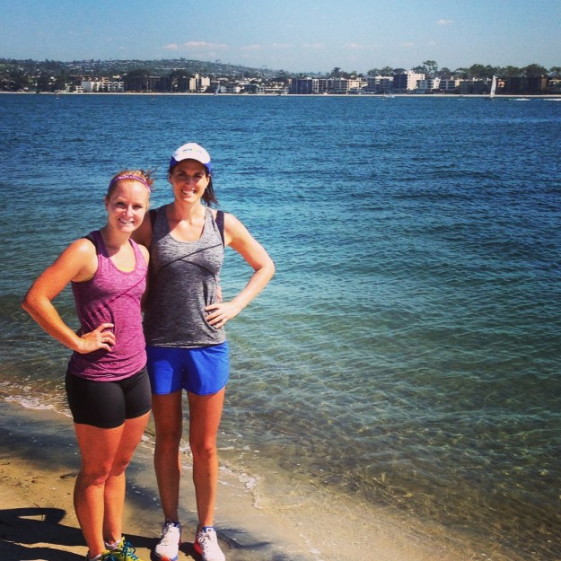 15 HOT Miles This Weekend in Mission Bay with Oiselle Teammate Laurel.