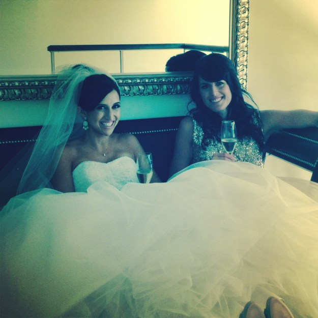 Asia and I kicking our feet up in the suite just before the ceremony