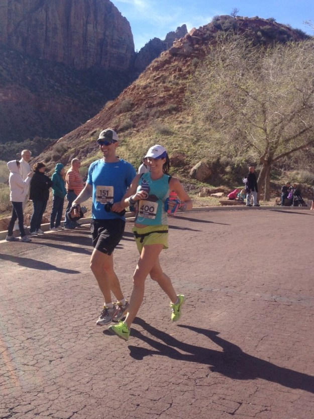 Finishing the Zion Half Marathon - 14 Weeks Pregnant