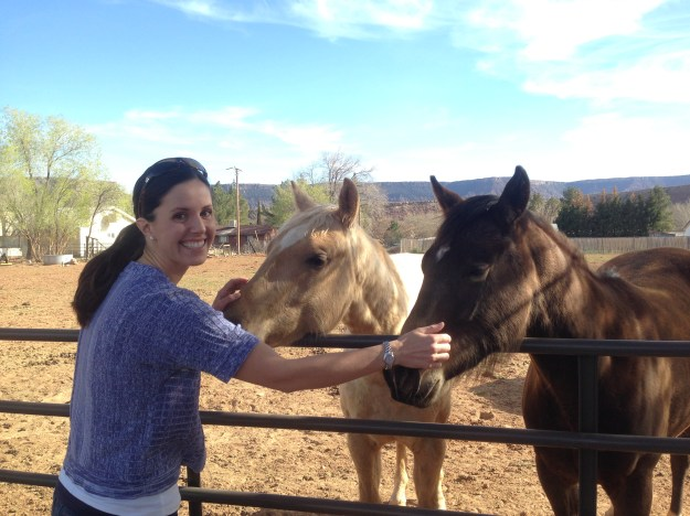 Claire and the horses!