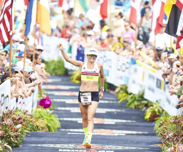 Beth Finishing 15th at Ironman Kona, just love ra year after having Wynn. (Source: Beth's Instagram Account)