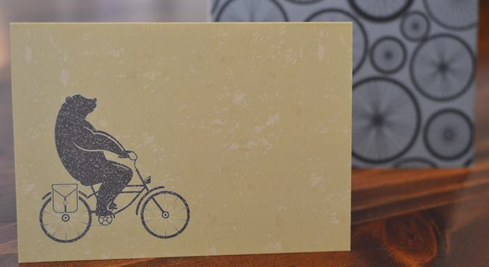handwrittn subscription service for cards A sneak peak of this month's designs. The theme is bicycles (no, it won't always be a fitness theme).