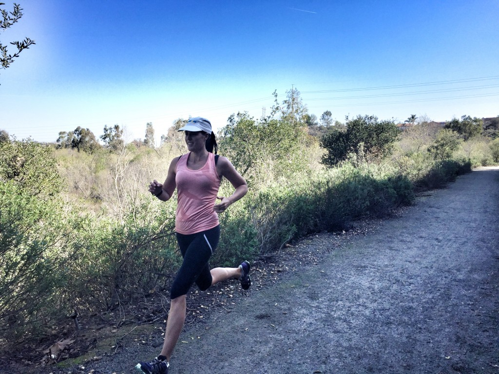 Running with Allison on the trails near my house last weekend