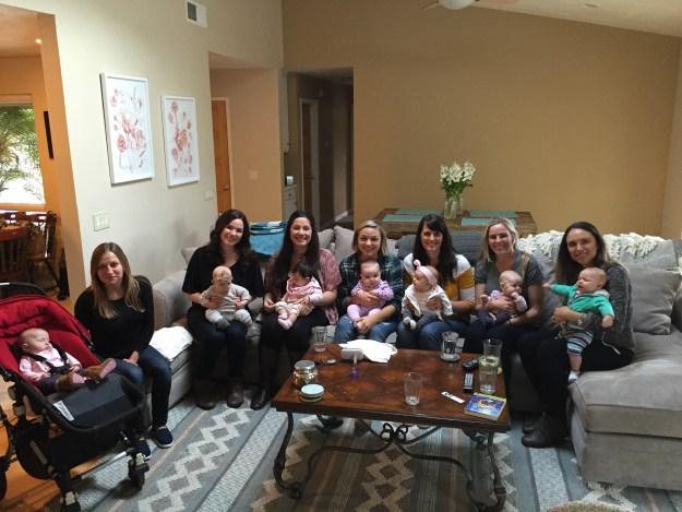 Bradley Method Birth Class Reunion! We all made it!