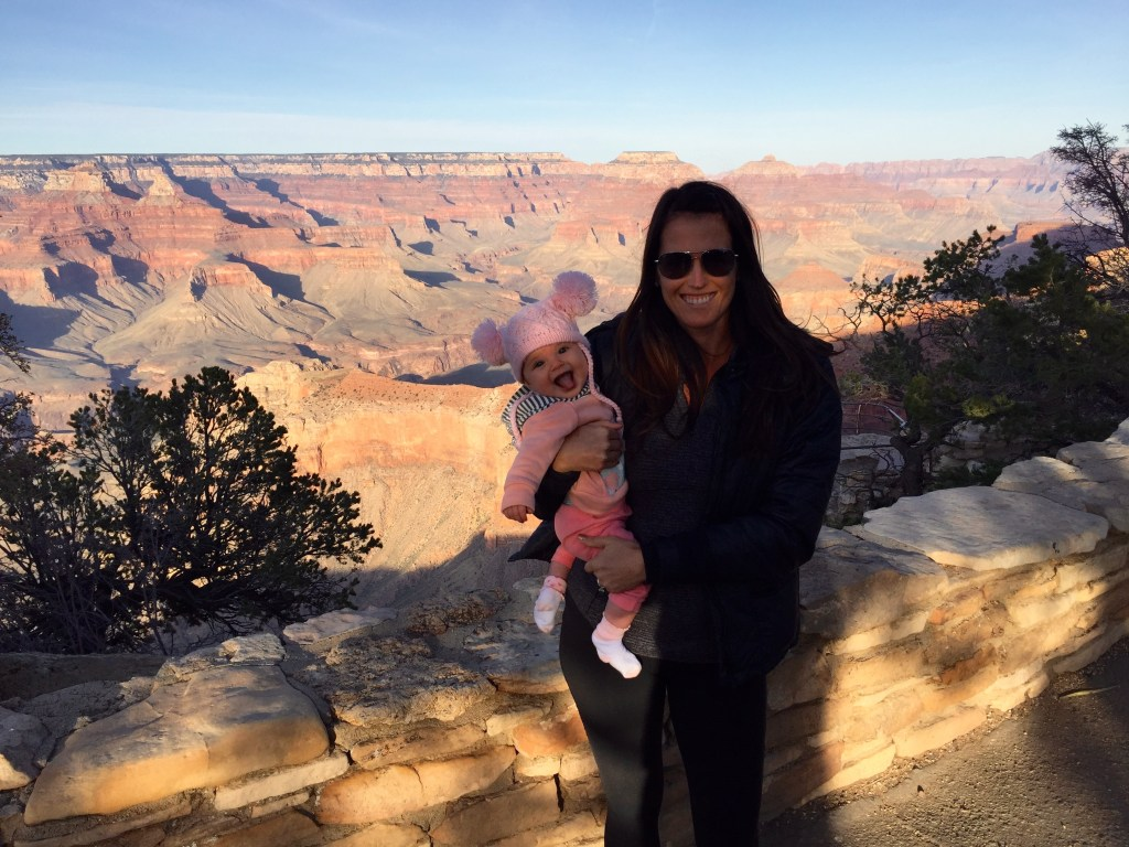 grand canyon with a baby