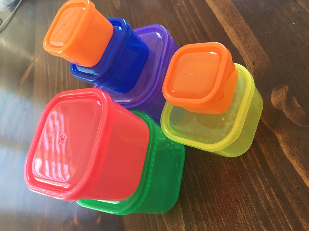 Color Coded Tupperware