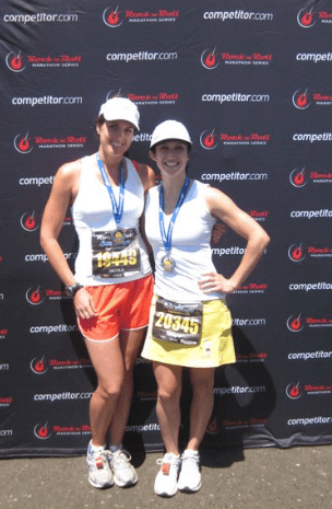 Asia and I after our first EVER marathon - San Diego Rock n' Roll in 2011.