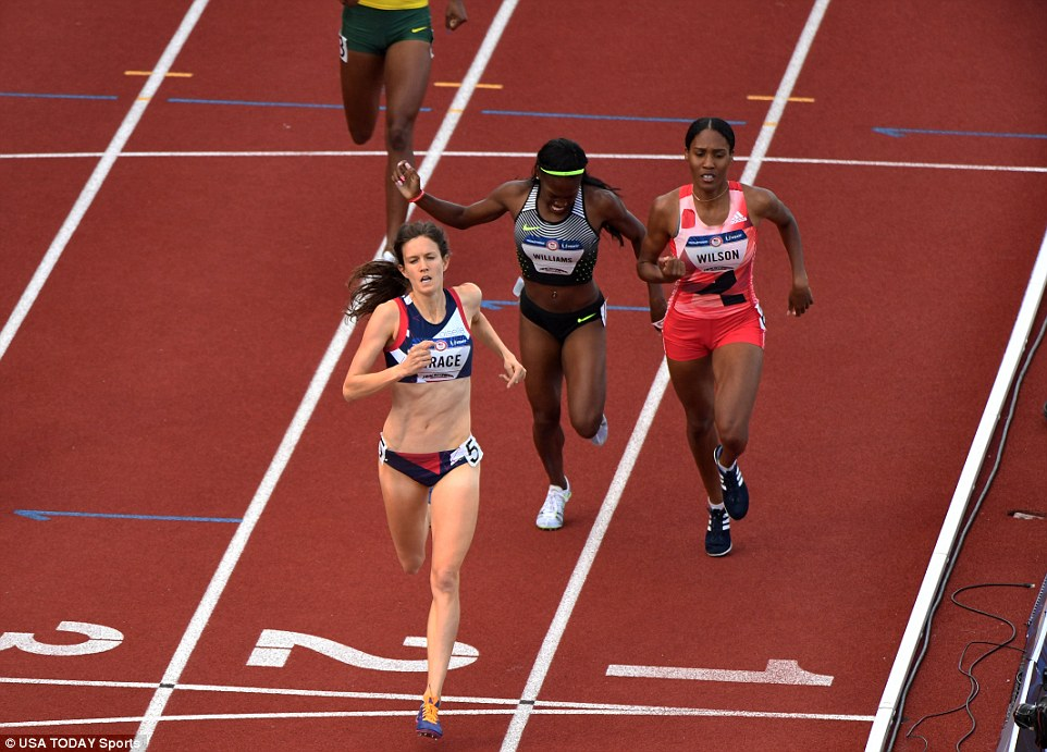 I can't write abotu the Olympics without a shout out to Oiselle runner Kate Grace who is competing in the 800 in Rio . source www.dailymail.co.uk