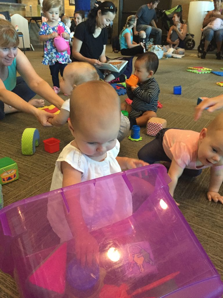 Baby Sign Language class ends with free play