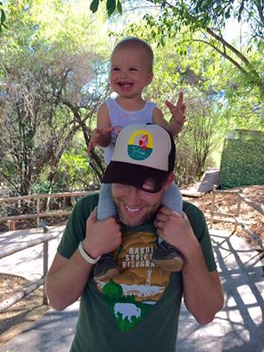 With Uncle Josh at the Safari Park