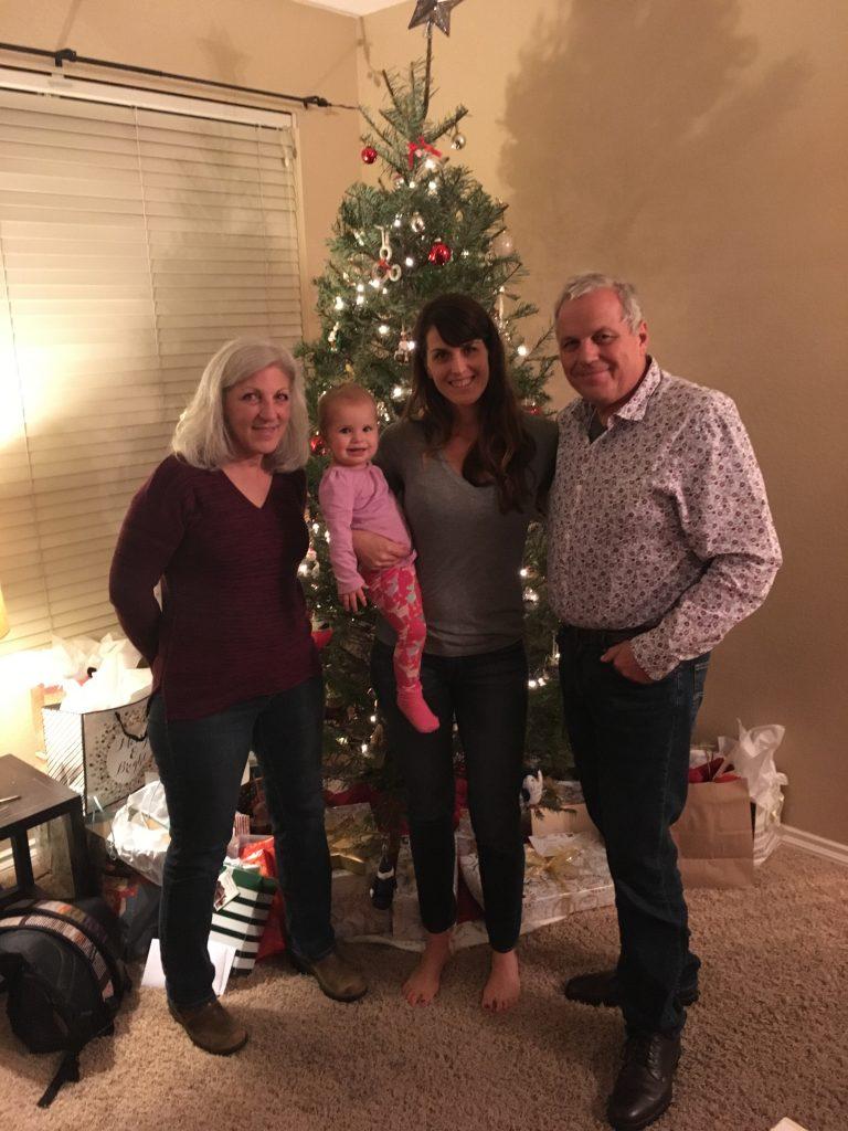 A visit from Grandma and Grandpa Woyski!