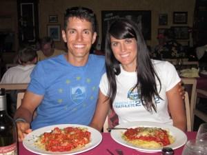 pasta before marathon