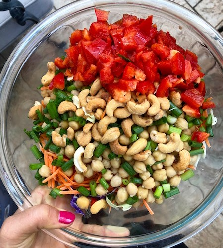 Thai Cashew Quinoa salad