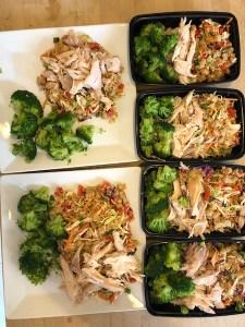 thai quinoa meal prep bowls