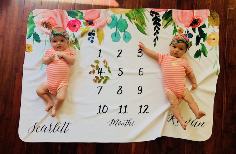 4 month old twins schedule