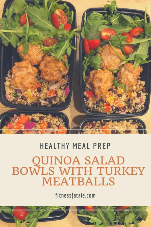 Quinoa salad meal prep bowls