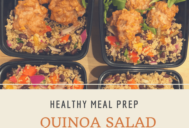 Healthy Meal Prep: Quinoa Salad Bowls With Turkey Meatballs