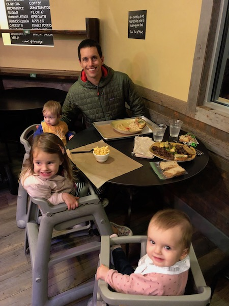 eating out with twin babies