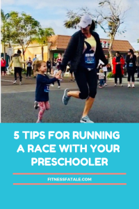 running a race with a 3 year old