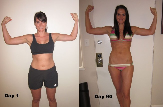 P90x results