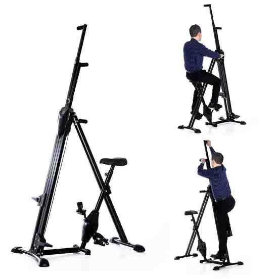 Homcom Vertical Climber Exercise Bike Stepper Cardio Home Gym