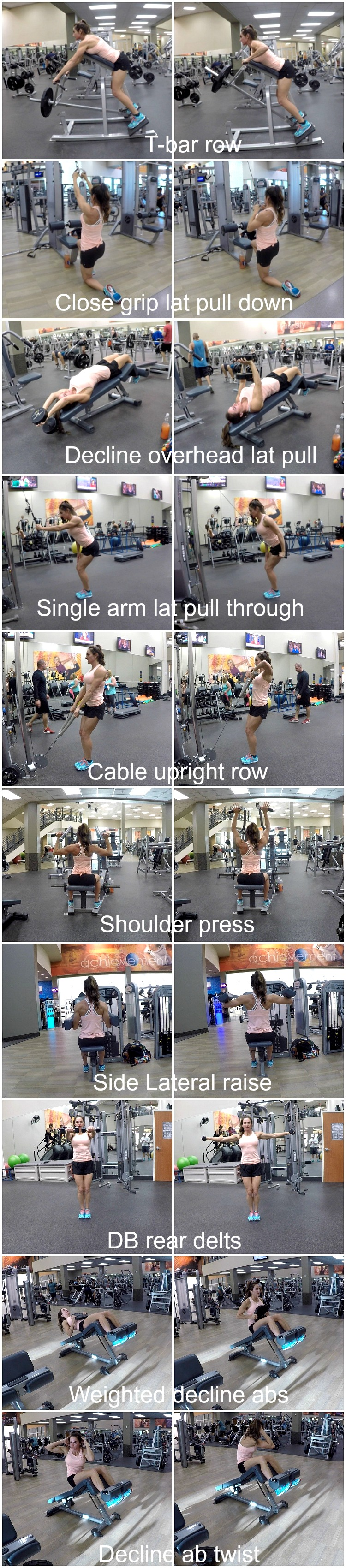 2 Week Workout Plan Day 10: Back Shoulders Abs | Fitness Food Diva