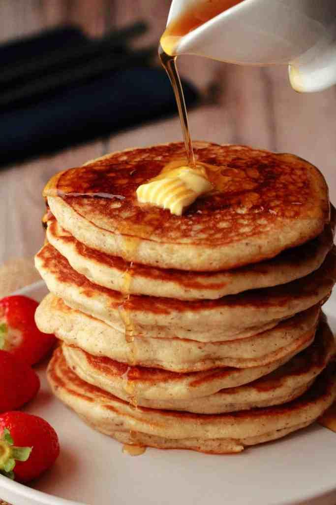 Best Vegan Pancakes in a bowl