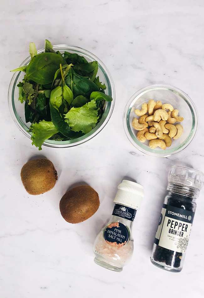 Kiwi Cashew Salad Ingredients