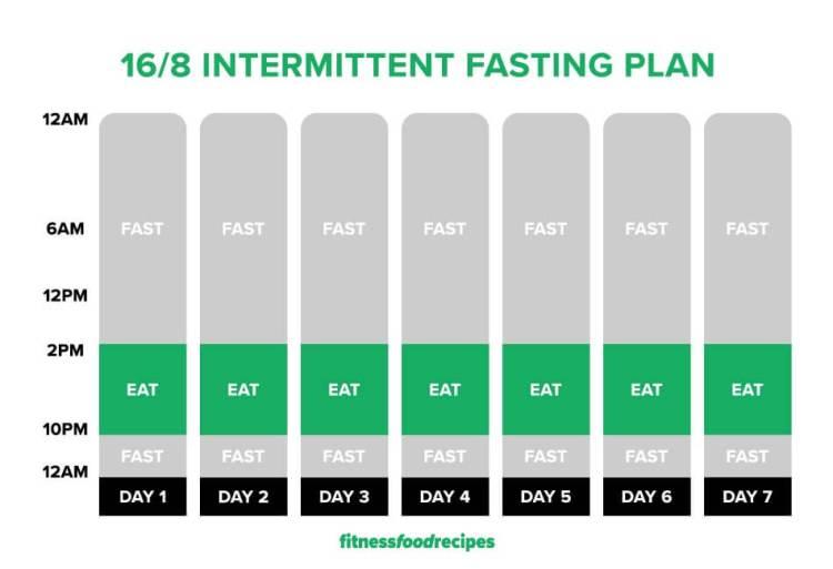 16/8 Intermittent Fasting Plan Image